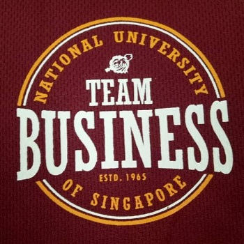 National University of Singapoe (Business T Shirt) Silk Screen example