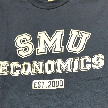 SMU Economics silk screen t shirt
